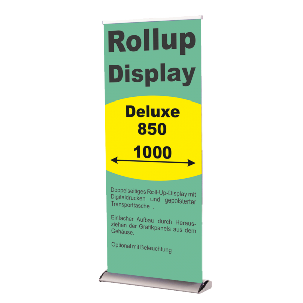 Rollup Banner Display Deluxe 850 und 1000 mm