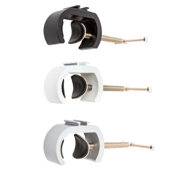 Rohrklemmen-Adapter für Langarmstrahler in schwarz, silber und weiß