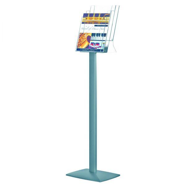 freistehendernProspektständer Pillar für 3 DIN A4 Prospekte