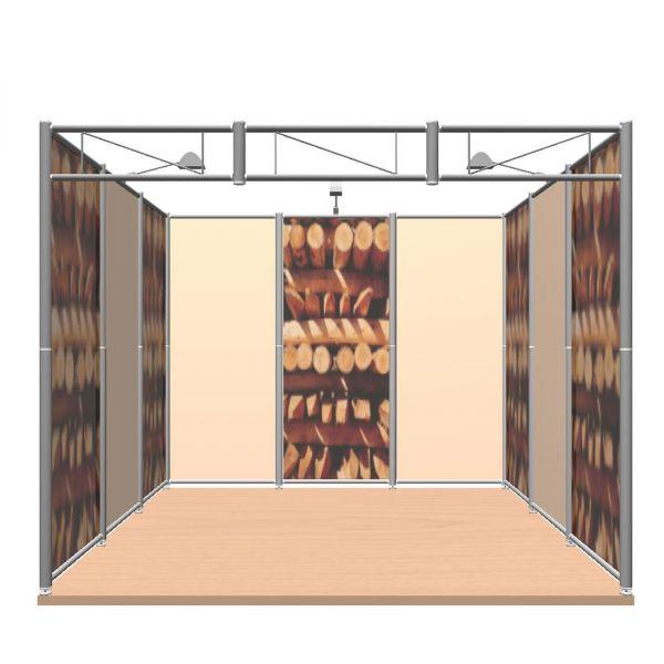 OCTAquick mobiler Messestand 3 x 3 m mit Stoffwandfüllung