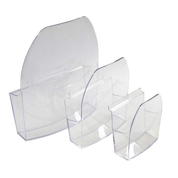 Dacapo Prospektschale DIN A4 zum Einhängen, aus transparentem Polystyrol