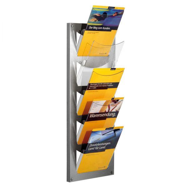 Novax Wandprospekthalter für 5 DIN A4 Prospekte