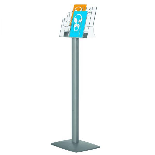 freistehender Prospektständer Pillar für 6 DIN Lang Prospekte