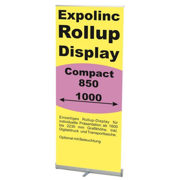 Rollup Banner Display Compact von Expolinc in 850 oder 1000 mm Breite