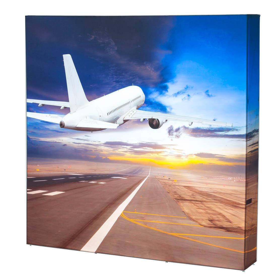 Faltdisplays mit LED-Hinterleuchtung und Textildruck - Faltdisplays mit Stoffdruck