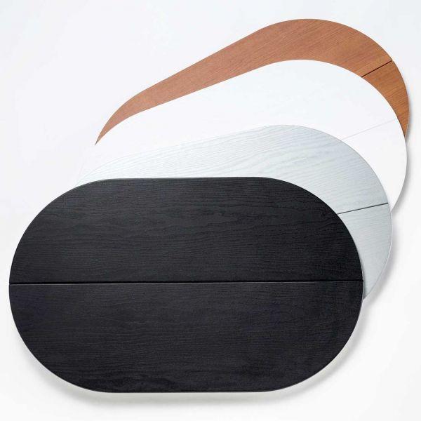 Faltbarer Thekendeckel für Faltdisplay Popup-Magnetic in schwarz, weiß, silber oder Holzoptik
