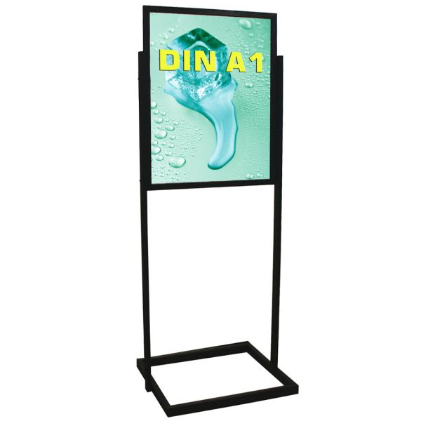 Plakatständer Eco mit doppelseitigem Einschubrahmen für DIN A1 Plakate