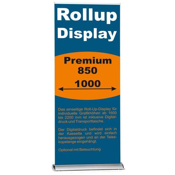 Rollup Banner Display Premium in 850 und 1000 mm Breite