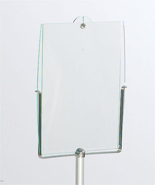 Stopquick Posterhalter beidseitig DIN A4 für Haltebügel auf Stopper Eco, Master und Tex
