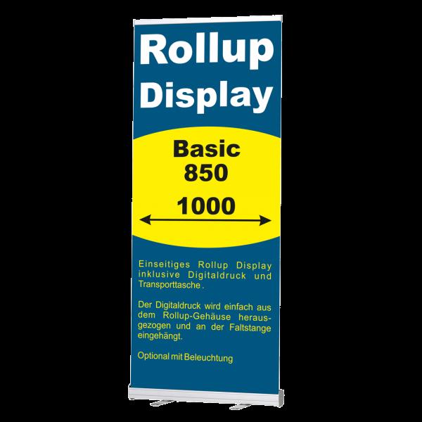 Rollup Banner Display Basic in 850 und 1000 mm