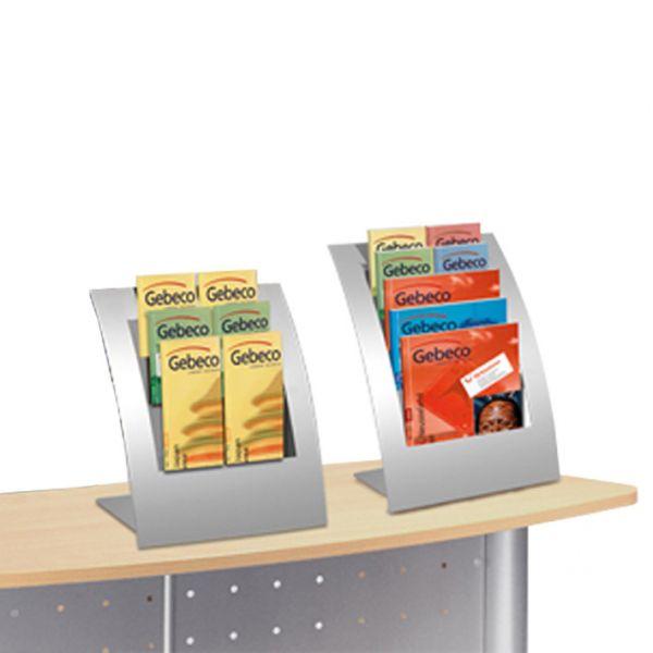 Tischprospektständer Varia für Prospektformate DIN-Lang, DIN A4 und DIN A5