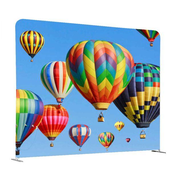 Stoffdisplay Zipper-Wall gerade mit einseitiger und beidseitiger Textilgrafik