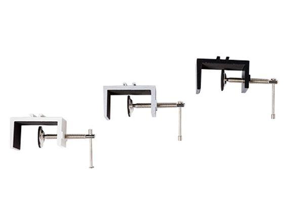Wandklemmen-Adapter bis 53 mm Stärke in schwarz, silber und weiß, für Langarmstrahler