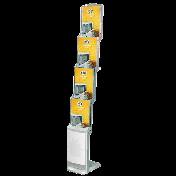 RealZip Prospektständer faltbar für 4 DIN A4 Prospekte