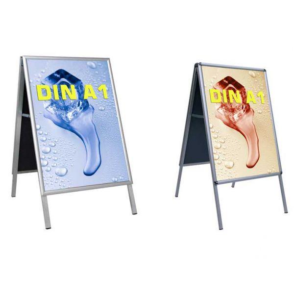 Kundenstopper Indoor DIN A1 Ecke auf Gehrung oder Ecke Rondo