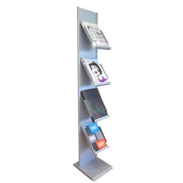 Prospektständer SilverLight für 4 DIN A4 Prospekte