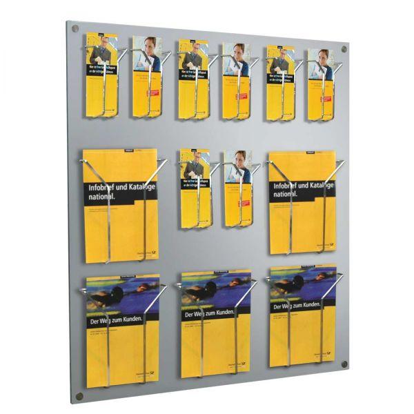 Focus Wandprospekthalter dür DIN Lang und DIN A4 Prospekte