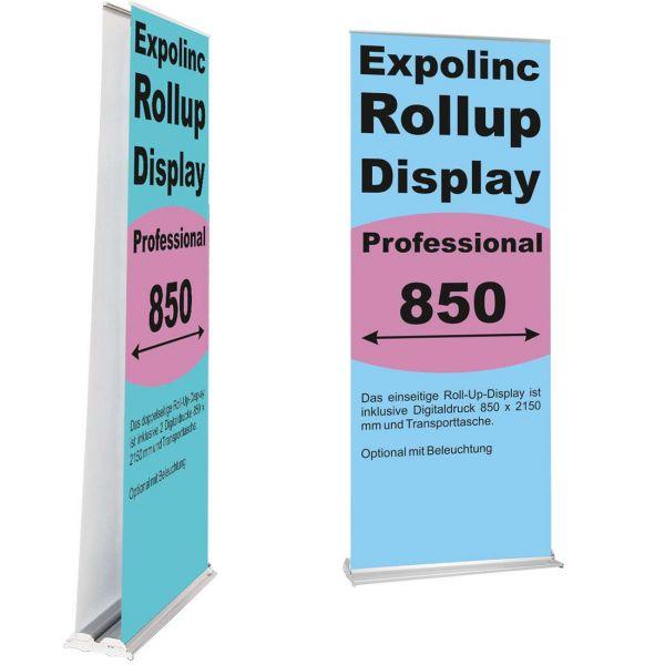 Rollup Banner Display Professional von Expolinc einseitig oder doppelseitig
