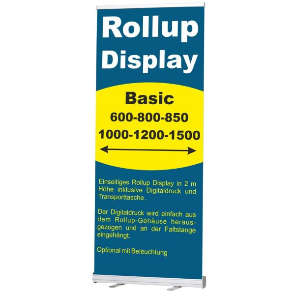 Rollup Banner Display Basic in vielen Breiten