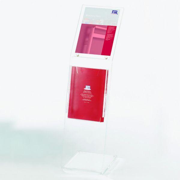 Info-Prospektständer für DIN A4 Poster und Prospekt