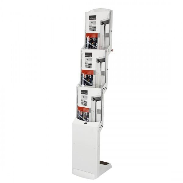 Faltprospektständer RealZipBianco 3 für 3 DIN A4 Prospekte