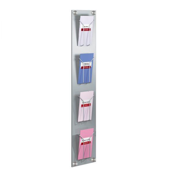 Wandprospekthalter Artline für 4 DIN-Lang Prospekte
