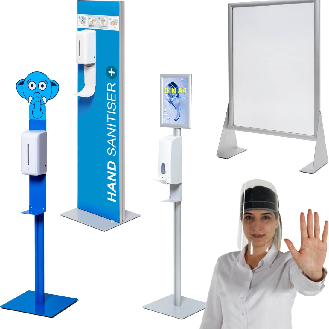 Hygiene & Abstand - Hinweisschilder