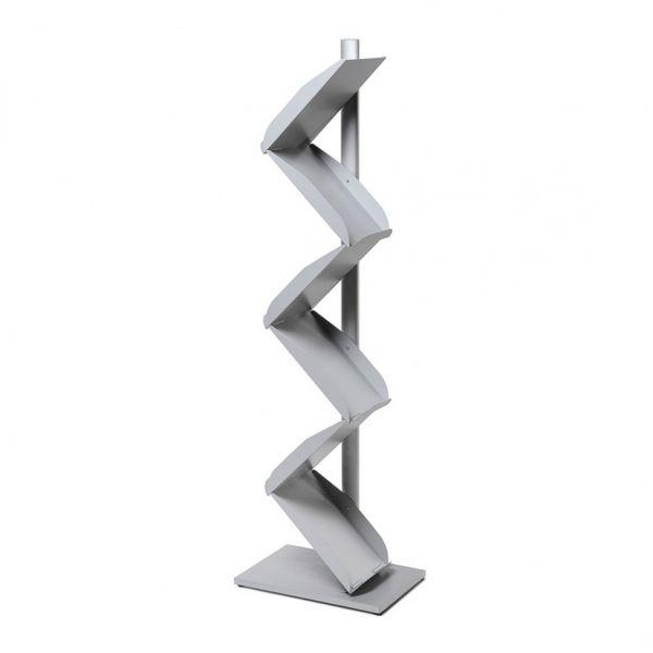 ZickZack Prospektständer aus Metall für 6 DIN A4 Prospekte