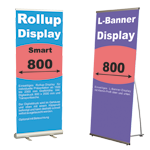 Rollup Displays und Bannerdisplays