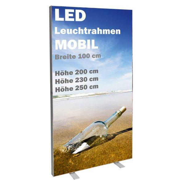 LED-Leuchtrahmen 100 cm breit für den mobieln Einsatz