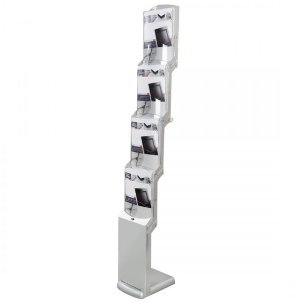 RealZipFlexi faltbarer Prospektständer für 4 DIN A4 Prospekte