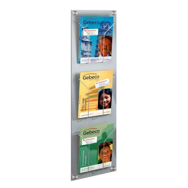 Wandprospekthalter Artline für 3 DIN A4 Prospekte