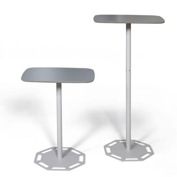 Mobiler Tisch in zwei Höhen als Stehtisch oder Tisch