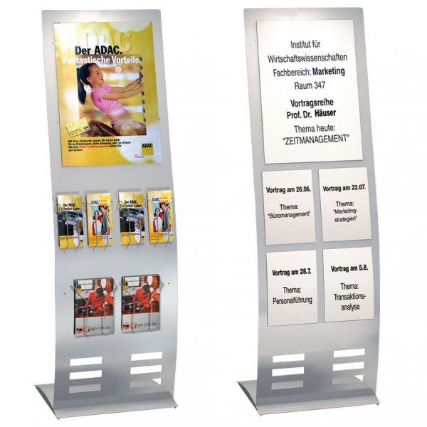 Infoständer TecArt breit als Infodisplay und Prospektständer