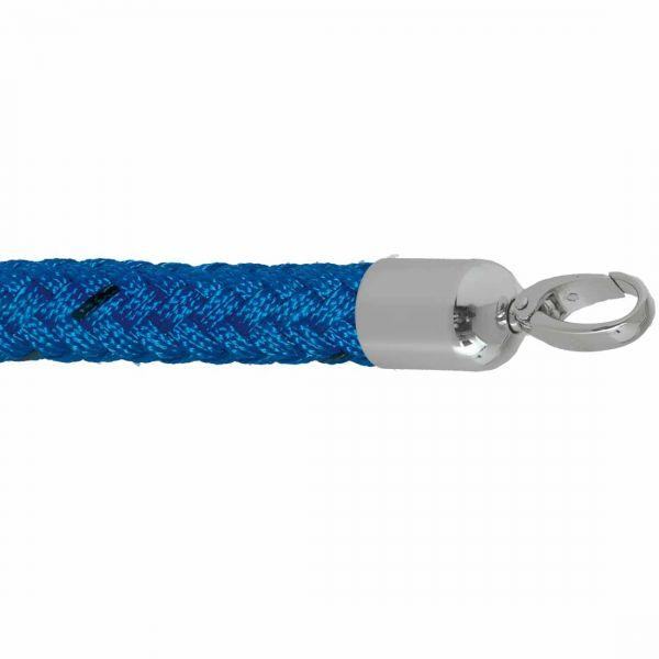 Kordel für Stopper Tex Blau 1000 mm Seilkappen verchromt