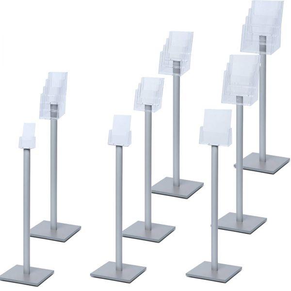 Prospekthalter Design Standard für DIN-Lang, DIN A5 und DIN A4 Prospekte
