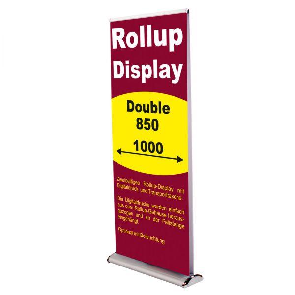 Rollup Banner Display doppelseitig Double in 850 und 1000 mm Breite