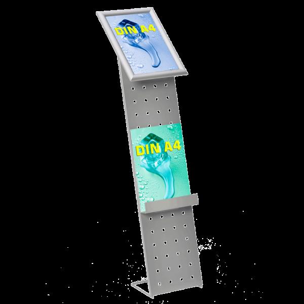 Infoständer AluDesign für DIN A4 Poster und Prospekte